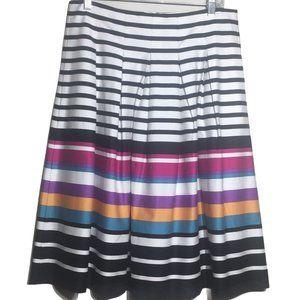 Banana Republic Multicolored Striped A-line Skirt